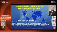 Management of Periodontitis and Peri-Implantitis by Lasers Webinar Thumbnail